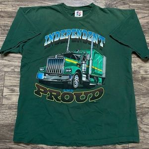 Vintage Independent and Proud T Shirt USA Made XL